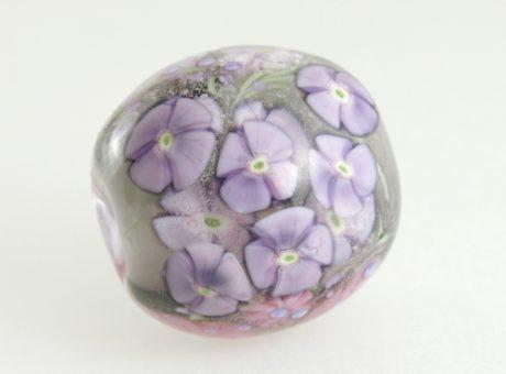 37400 本山すみ子 とんぼ玉・花ごろも 紫系1