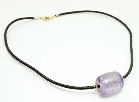 55317後藤修司・ミックスカラーゆらぎ玉(紫) ネックレス-2