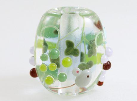 91-A77石川幸・ネズミと葡萄(ネオジウムガラス使用)1