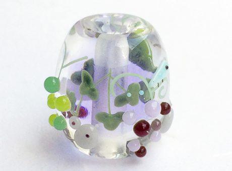 91-A77石川幸・ネズミと葡萄(ネオジウムガラス使用)2