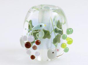 91-A77石川幸・ネズミと葡萄(ネオジウムガラス使用)