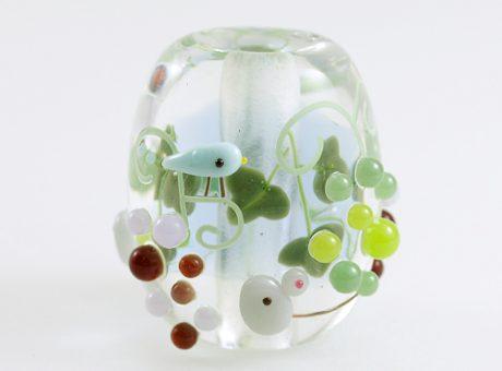 91-A78石川幸・ネズミと葡萄(ネオジウムガラス使用)