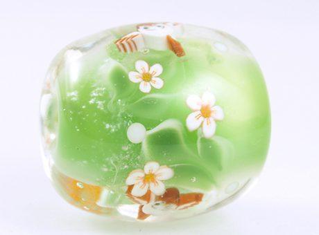 94186駒形遵・ふくら雀(緑)2