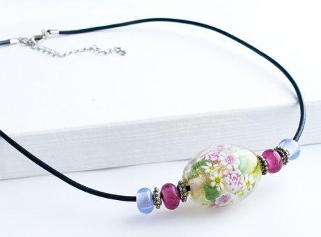96087 清水みゆき (ネックレス)バラの花束 2