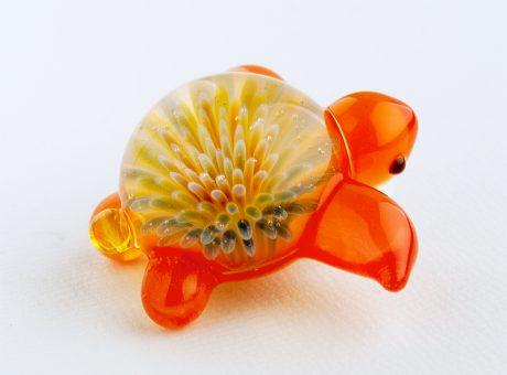 102062 北島知幸 海亀(ホヌ)深海の花1