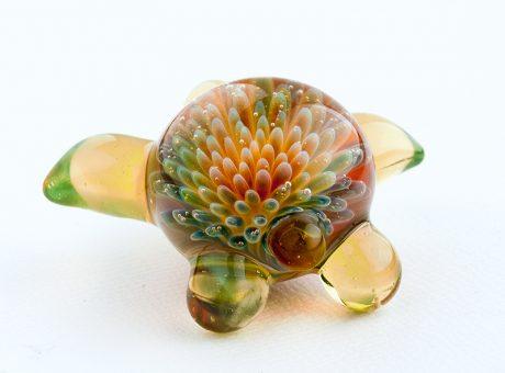 102064 北島知幸 海亀(ホヌ)深海の花2